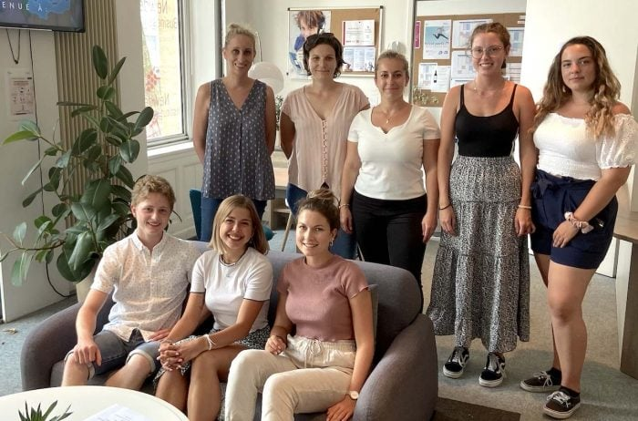 swiss students group learn french