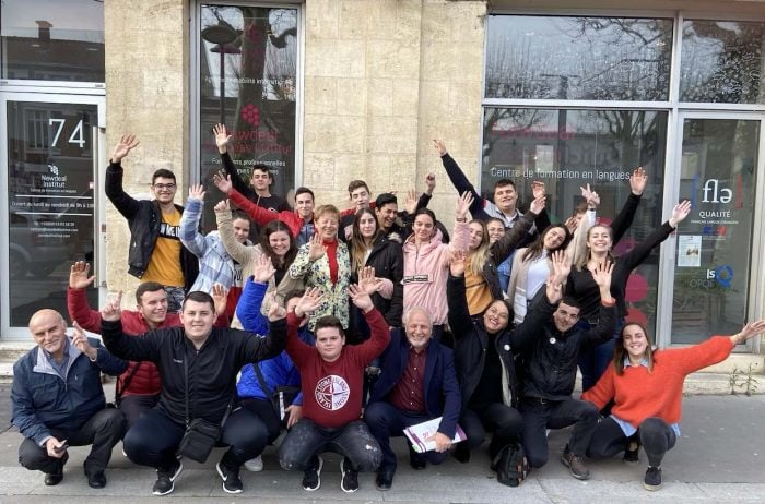 italian group french language trip